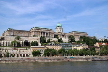 The Royal Palace in Buda as seen from Pest