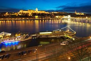 Fine view from a Danube bank hotel in Pest
