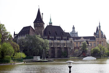 Vajdahunyad Castle and City Park lake