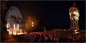 Concert at the Margaret Island open air stage Budapest Summer Festival