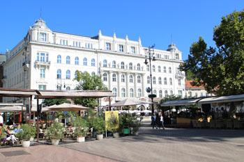 Gerbeaud cafe's facade