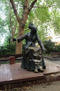 The statue of Ferenc Liszt in the middle of the square