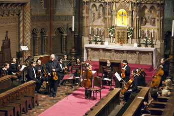 the Hungarian Virtuoso Orchestra performing in Matthias Church