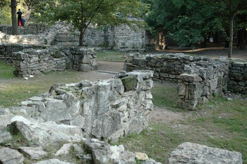 stone ruins of the monastery