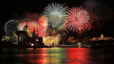 New Years Eve boat party on the Danube