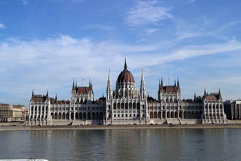 the Parliament from the Buda side