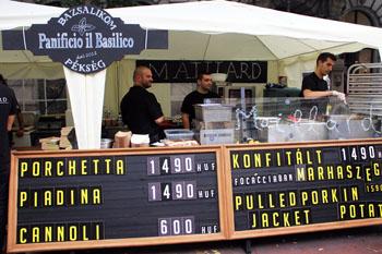 Panificio il Basilico's white-tented stall
