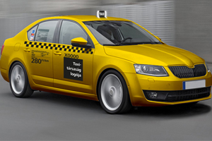 Taxis are yellow in Budapest