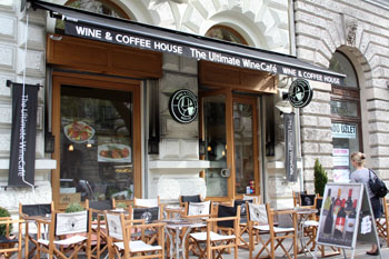 the terrace of Wine & Coffee House