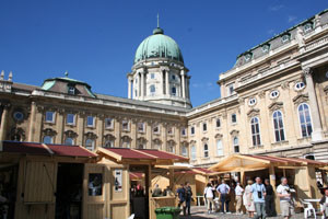 Buda royal palace during the wine festival.