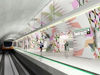 station of the 4. metro line at Szent Gellért tér