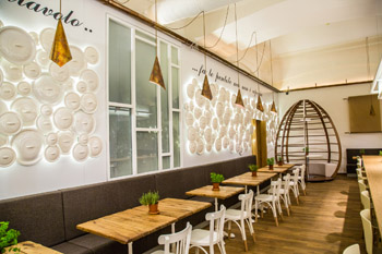 seating area in Akademia Italia restaurant