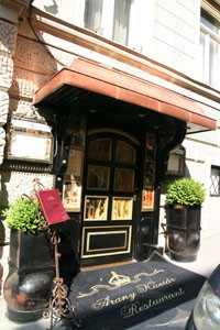 entrance of the Arany Kaviár Restaurant