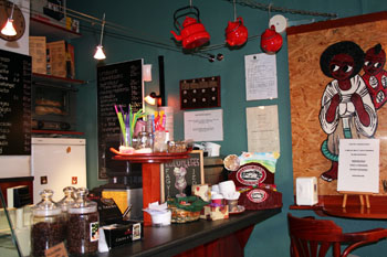 Balzac Cafe inside