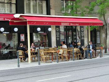 terrace of the Biarritz restaurant