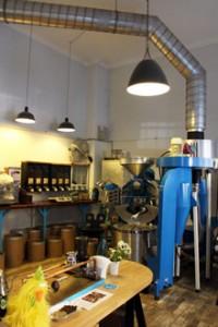 a Coffee-Tech roaster in Blue Bird Roastery
