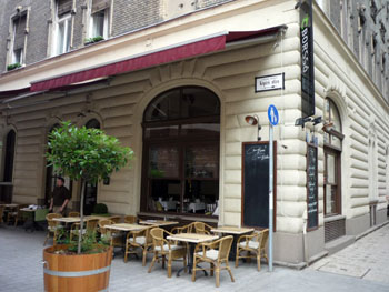 the terrace of the bistro