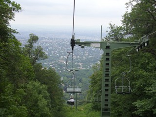 the chairlift in the Buda Hills