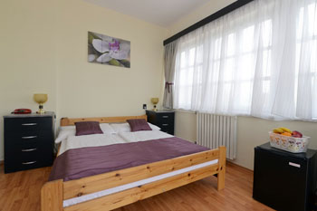 a nice double room with a large panorama window