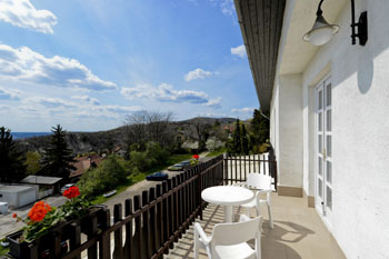 view from the double room with terrace in Budai Hotel