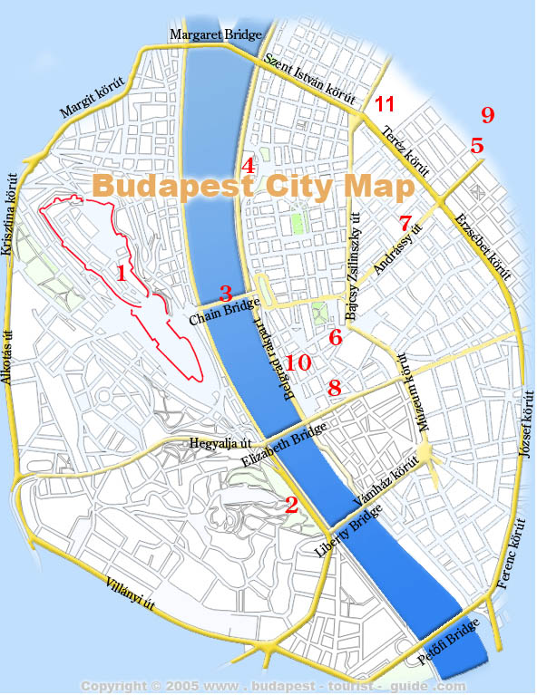 Budapest Maps Downloadable City District Metro Maps