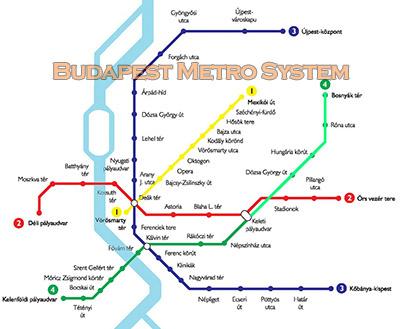 Budapest Metro Map