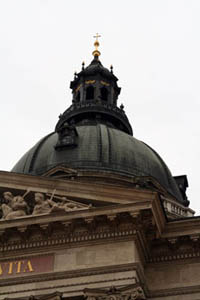 close up shot of the cupola on a cloudy day
