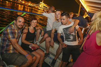 A Boat Party with Drinks, Dancing and Cruising