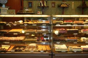 cake counter in Daubner cake shop