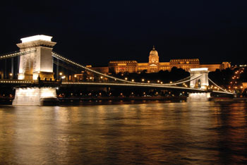 The Danube and the Chain bridge at night