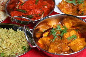 curry and other Indian food