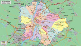 map of Budapest districts