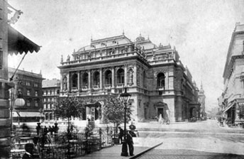 The Opera House facade in the 19.century
