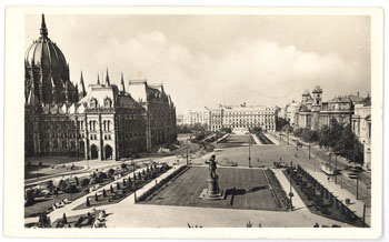 the Parliament and Kossuth Square in the 1940-s
