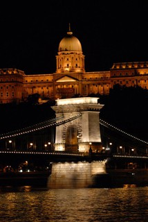 View of Royal Palace in Buda and the Chain Bridge