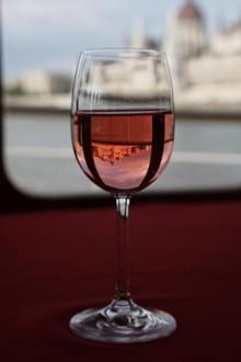 a glass of nice rose wine