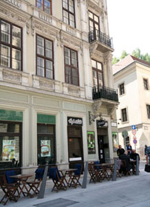 Alibi Cafe's terrace