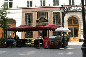 Cafe Dorottya in Budapest city centre