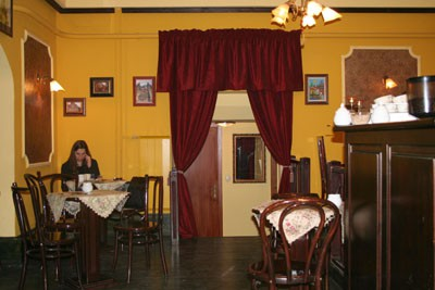 a Historic Budapest Coffee House inside