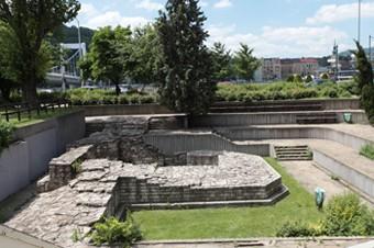 remains of Contra Aquincum Roman Fortress