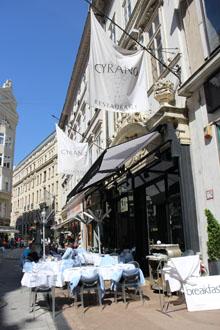 Cyrano restaurant's terrace