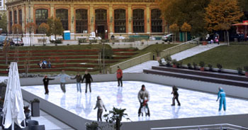 Ice rink at Eiffel Square