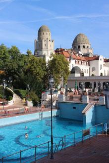teh Gellert Bath's open air pools