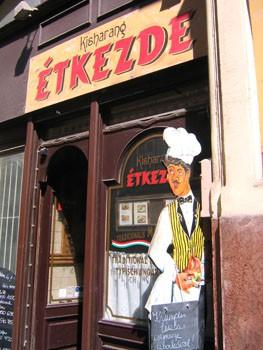 Kisharang Restaurant, entrance