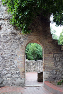 arched door of the convent