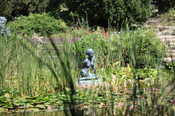 statue of a woman in the lake, Japanese Garden