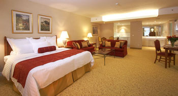 a double room in Marriott Budapest Millennium Court