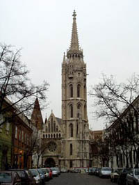 street view of the church on a november day
