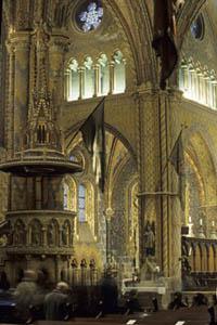 the gilded interior of Matthias Church
