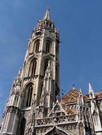 the main spire of the church